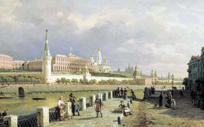 Описание картины Петра Верещагина «Вид Московского кремля»