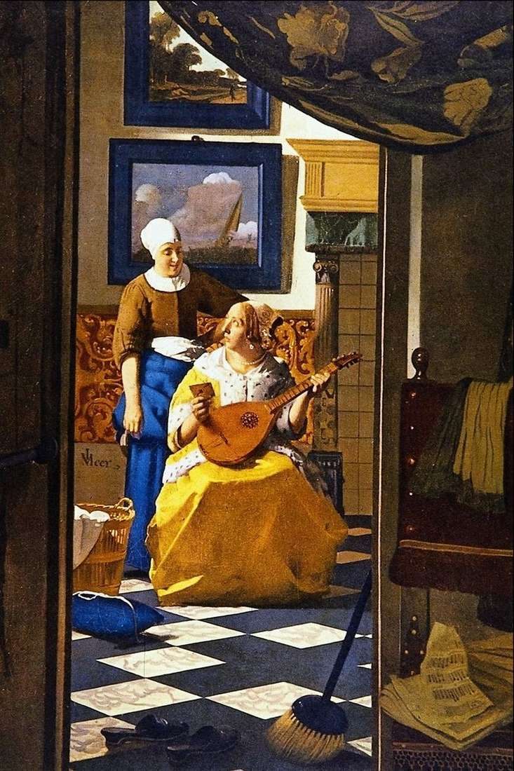 Описание картины Яна Вермеера «Любовное письмо»