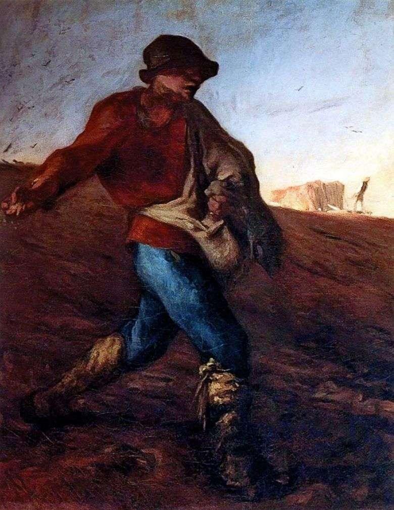 Описание картины Жана Франсуа Милле «Сеятель»