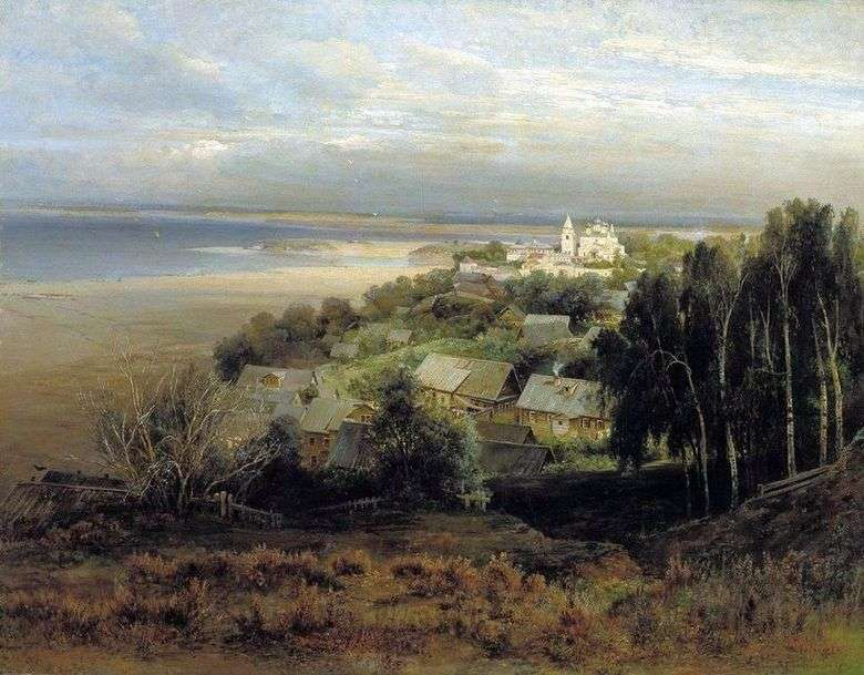 Описание картины Алексея Саврасова «Печерский монастырь под Нижним Новгородом»