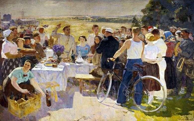 Описание картины Сергея Герасимова «Колхозный праздник»