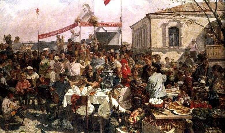 Описание картины Аркадия Пластова «Колхозный праздник»