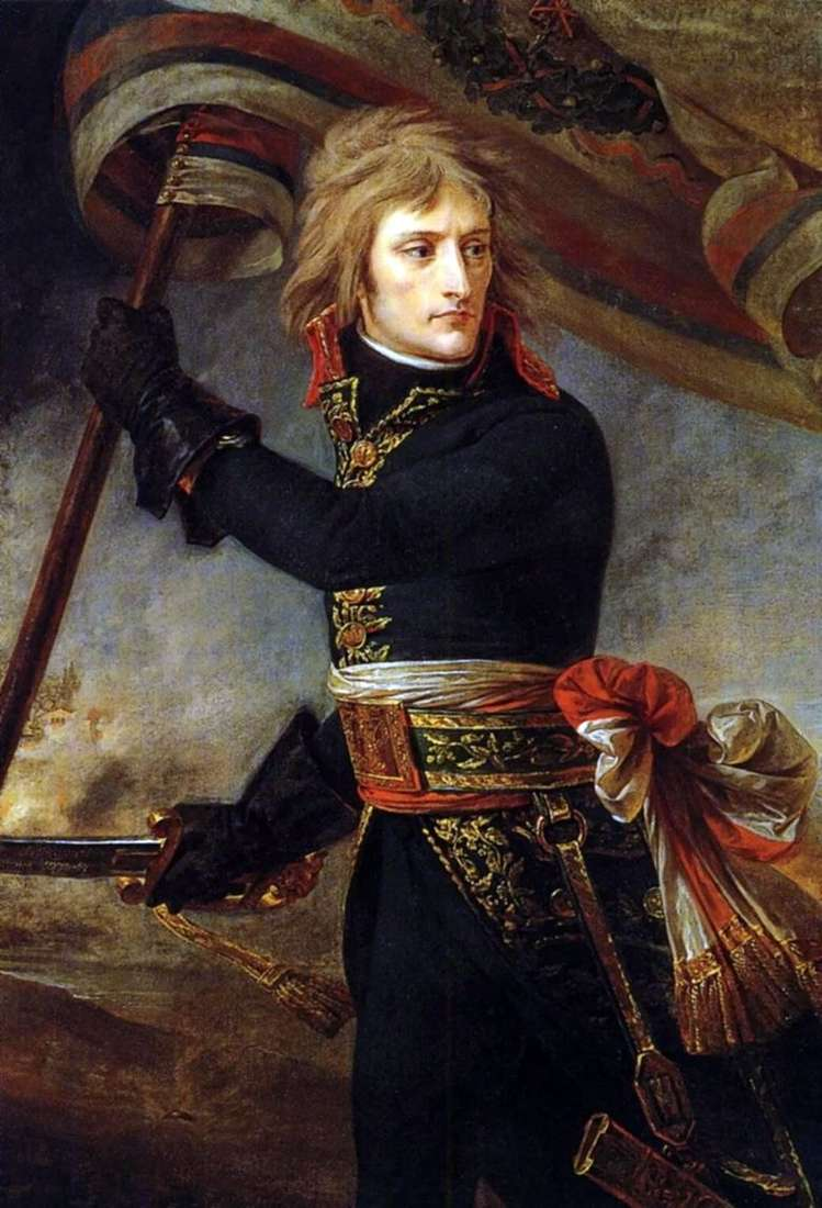 Описание картины Антуана Жана Гро «Наполеон на Аркольском мосту»