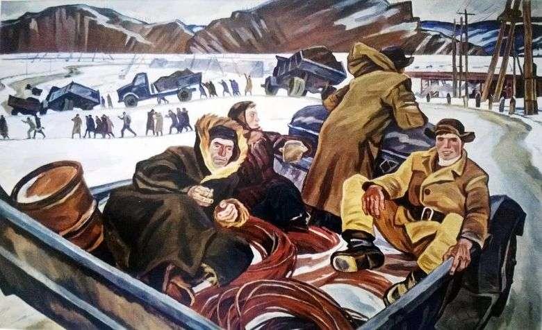 Описание картины Павла Никонова «Наши будни»