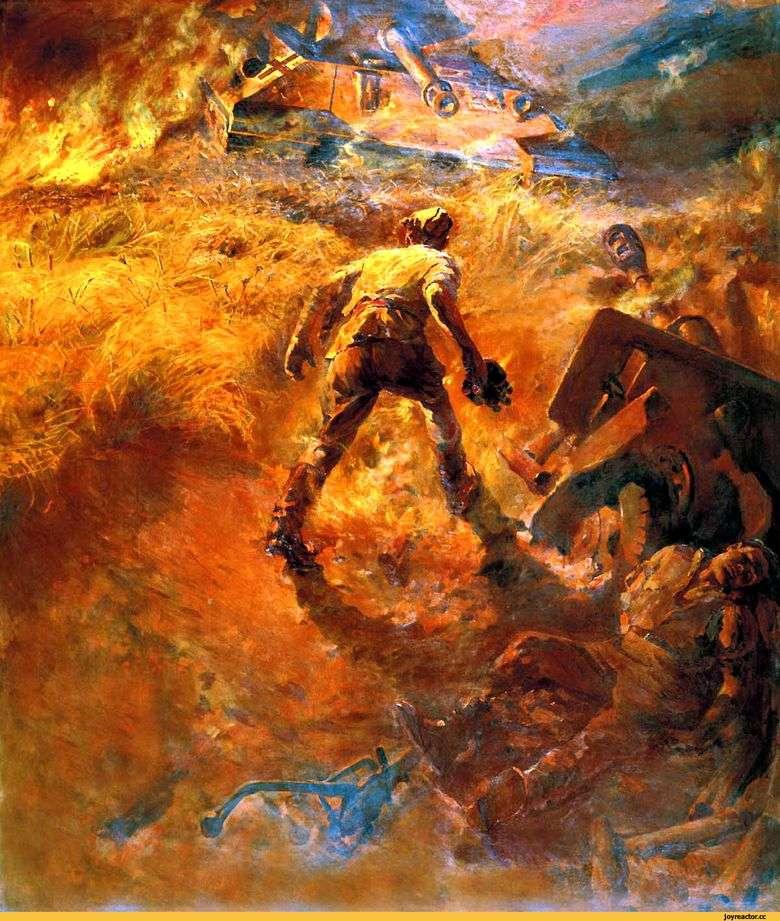 Описание картины Павла Кривоногова «Поединок»