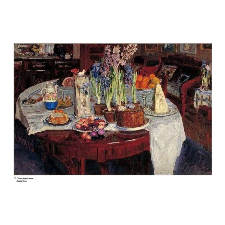 Описание картины Станислава Жуковского «Пасхальный натюрморт»