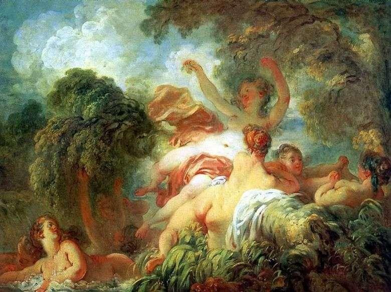 Описание картины Жана Оноре Фрагонара «Купальщицы»