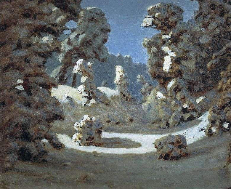 Описание картины Архипа Куинджи «Зима»