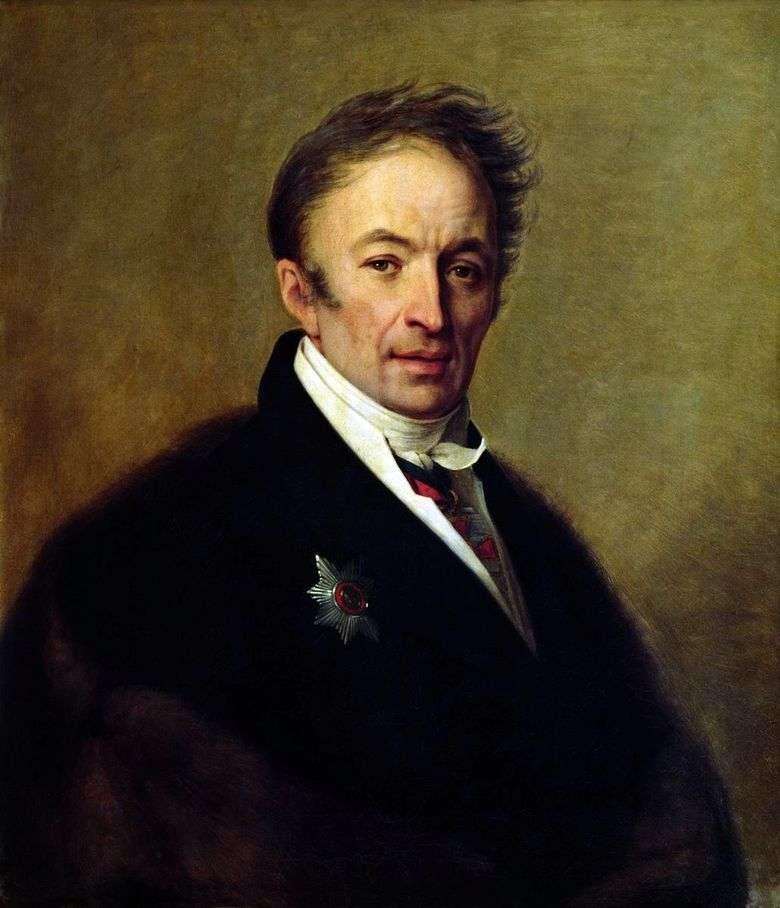 Описание картины Алексея Венецианова «Портрет Карамзина»