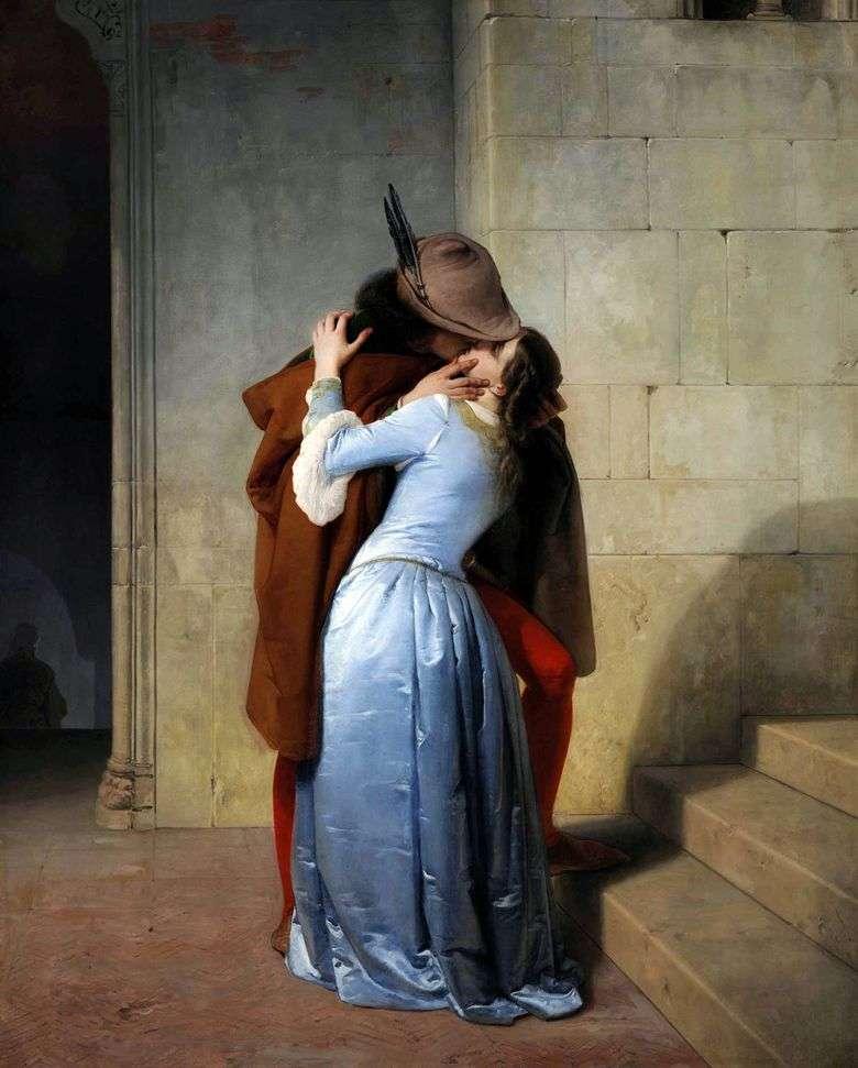 Описание картины Франческо Хайеса «Поцелуй»