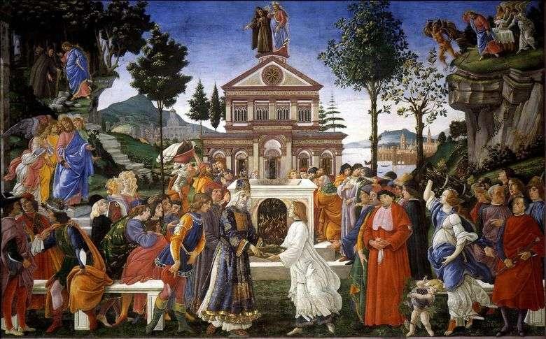 Описание картины Сандро Боттичелли «Искушение Христа»