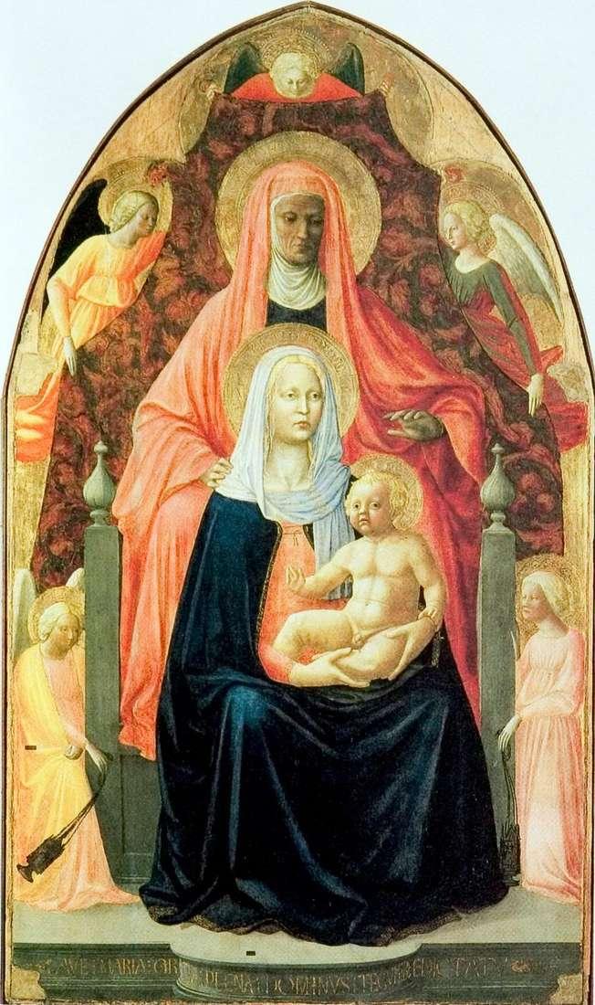 Описание картины Мазаччо «Святая Анна с мадонной и младенцем»