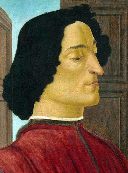 Описание картины Сандро Боттичелли «Портрет Джулиано Медичи»