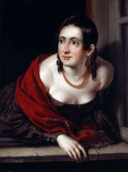 Описание картины Василия Тропинина «Женщина в окне»