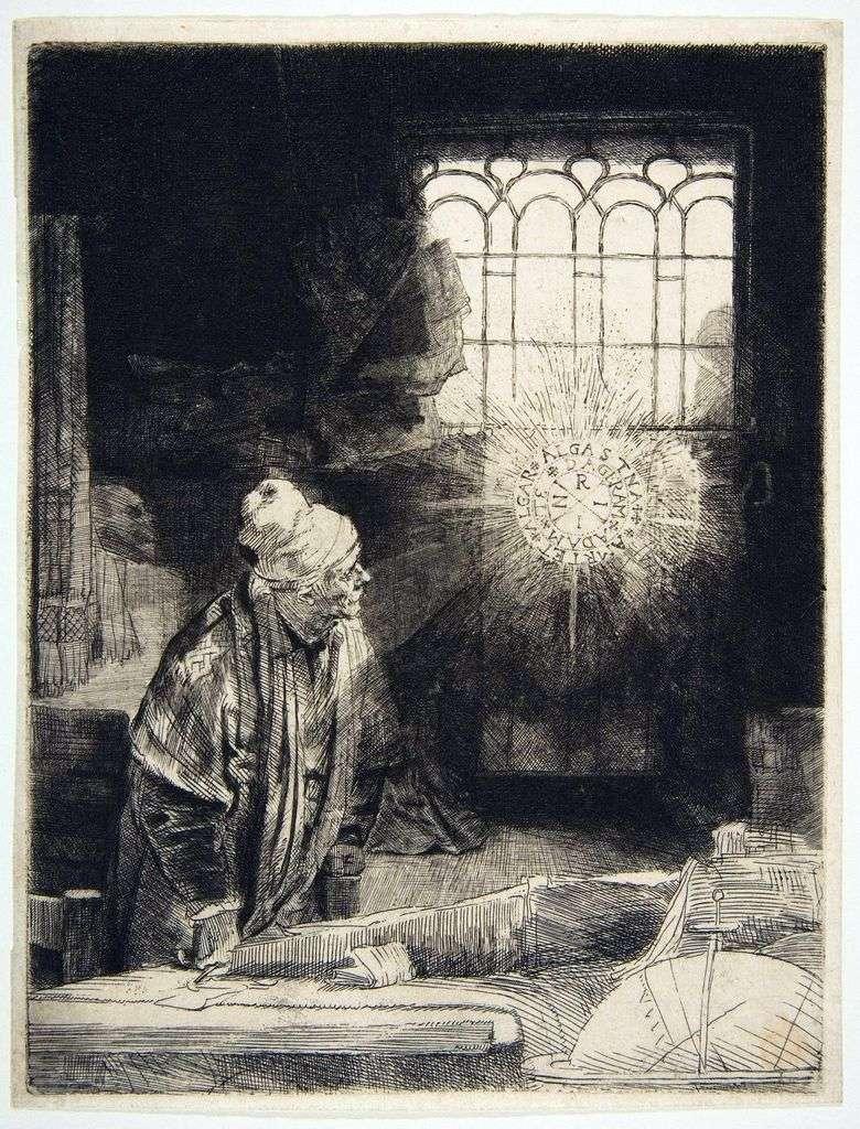 Описание картины Рембрандта «Фауст»