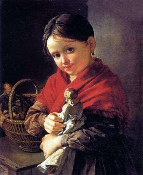 Описание картины Василия Тропинина «Девочка с куклой»