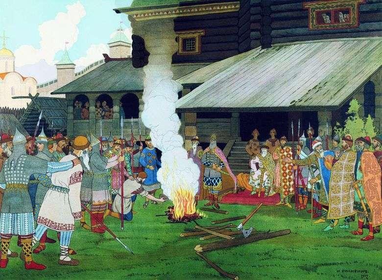 Описание картины Ивана Билибина «Суд во времена русской правды»