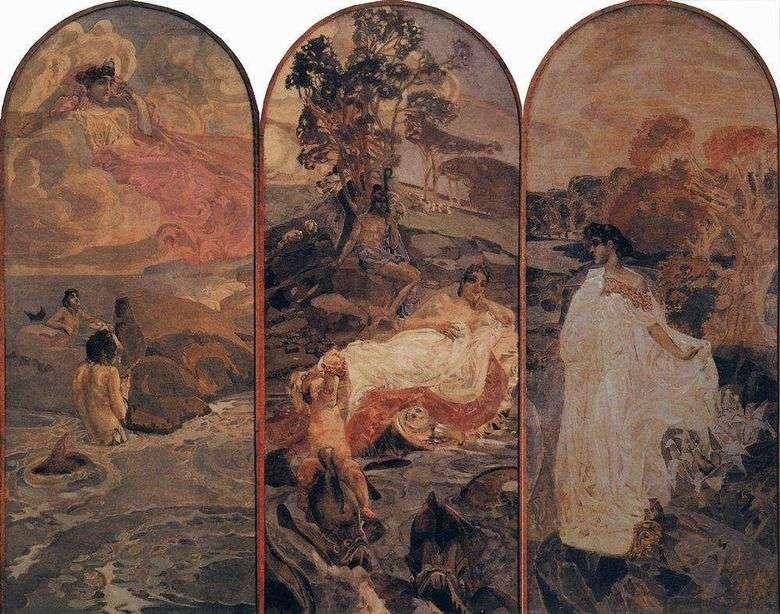 Описание картины Михаила Врубеля «Суд Париса»