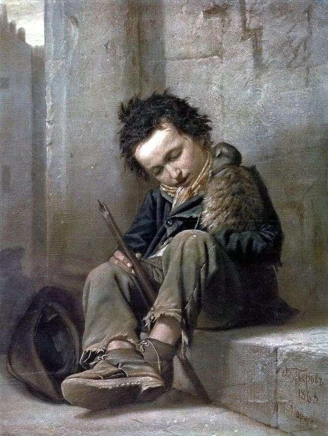 Описание картины Василия Перова «Савояр»
