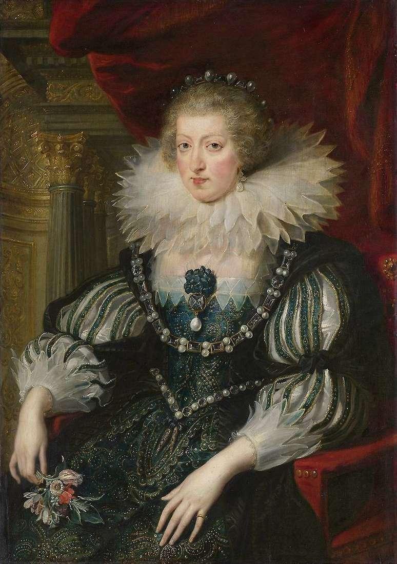 Описание картины Питера Рубенса «Портрет Анны Австрийской»