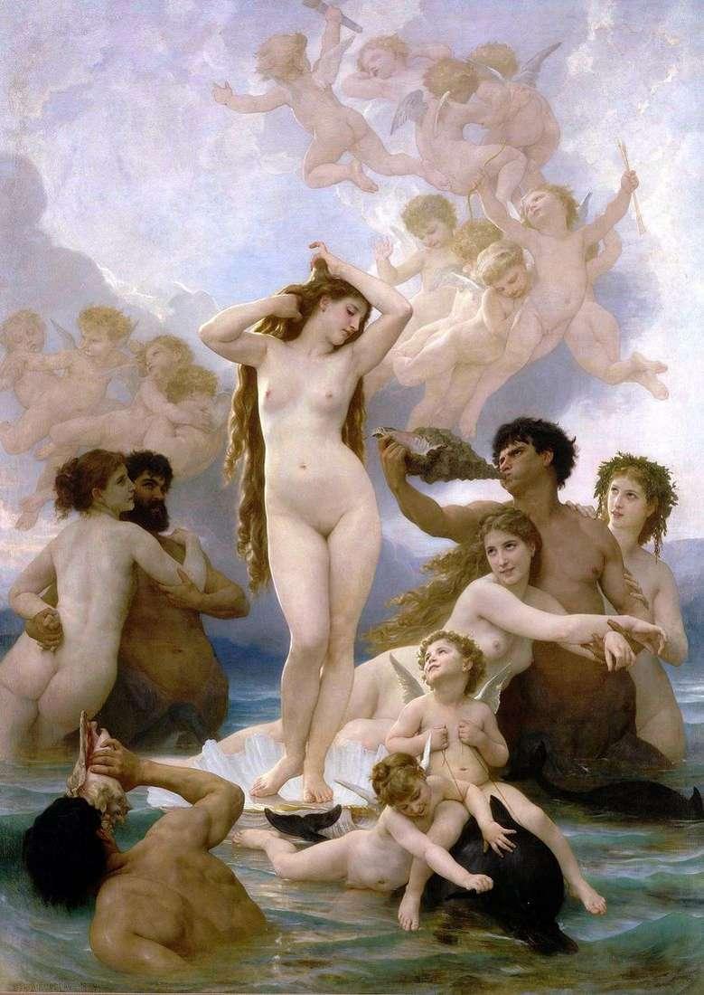 Описание картины Вильяма Бугро «Рождение Венеры»