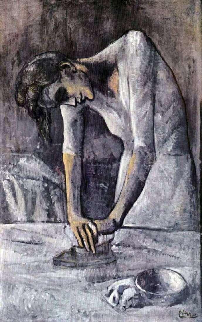 Описание картины Пабло Пикассо «Гладильщица»