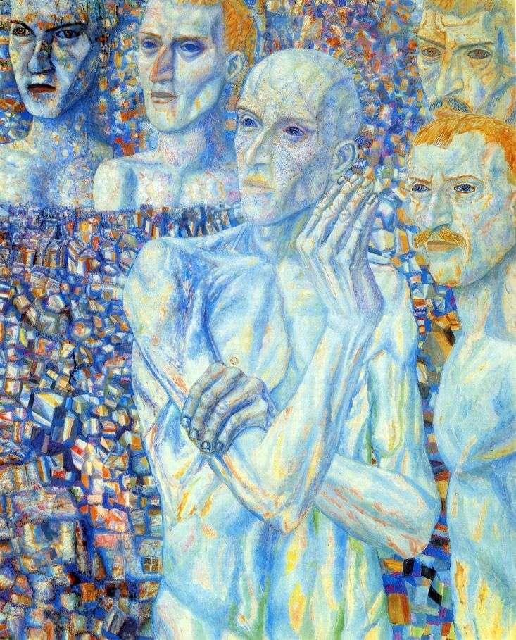 Описание картины Павла Филонова «Лица»