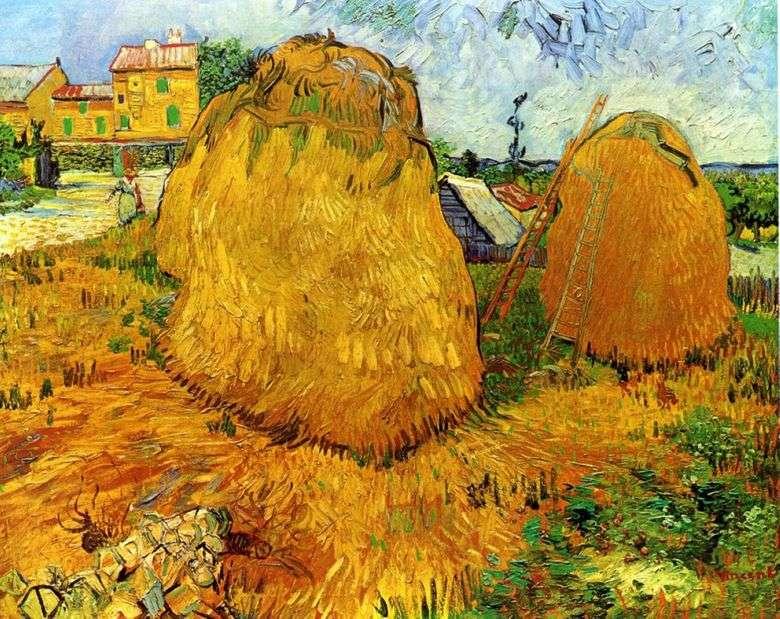 Описание картины Винсента Ван Гога «Стога сена в Провансе»