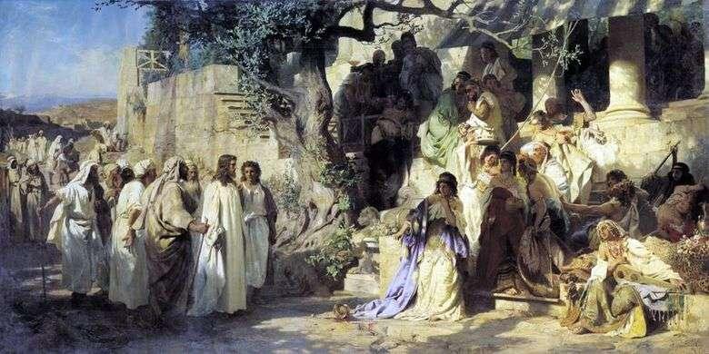 Описание картины Генриха Семирадского «Христос и грешница»