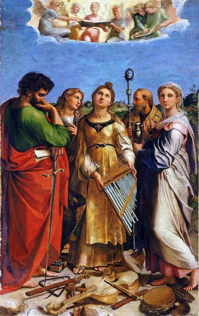 Описание картины Рафаэля Санти «Святая Цецилия»