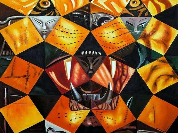 Описание картины Сальвадора Дали «Бенгальский тигр»
