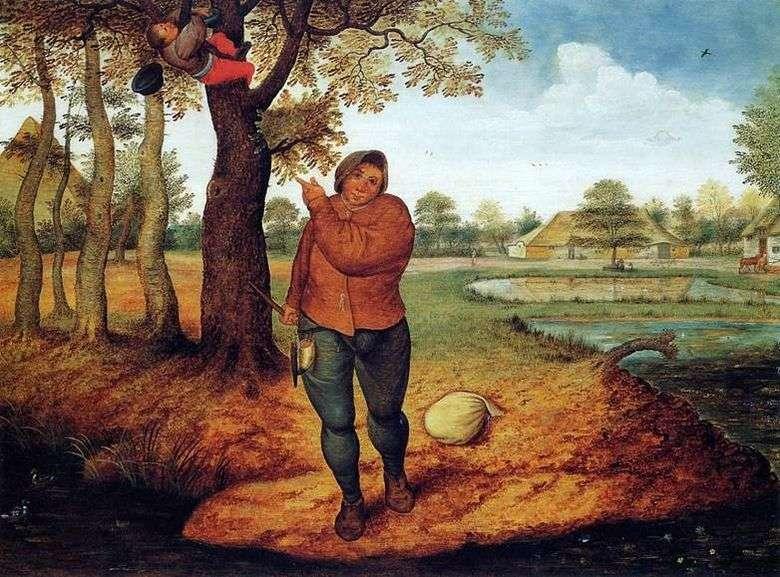 Описание картины Питера Брейгеля «Разоритель гнезд»