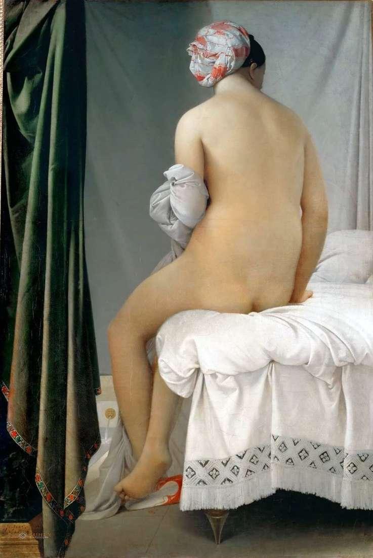 Описание картины Жана Огюста Энгра «Купальщица»