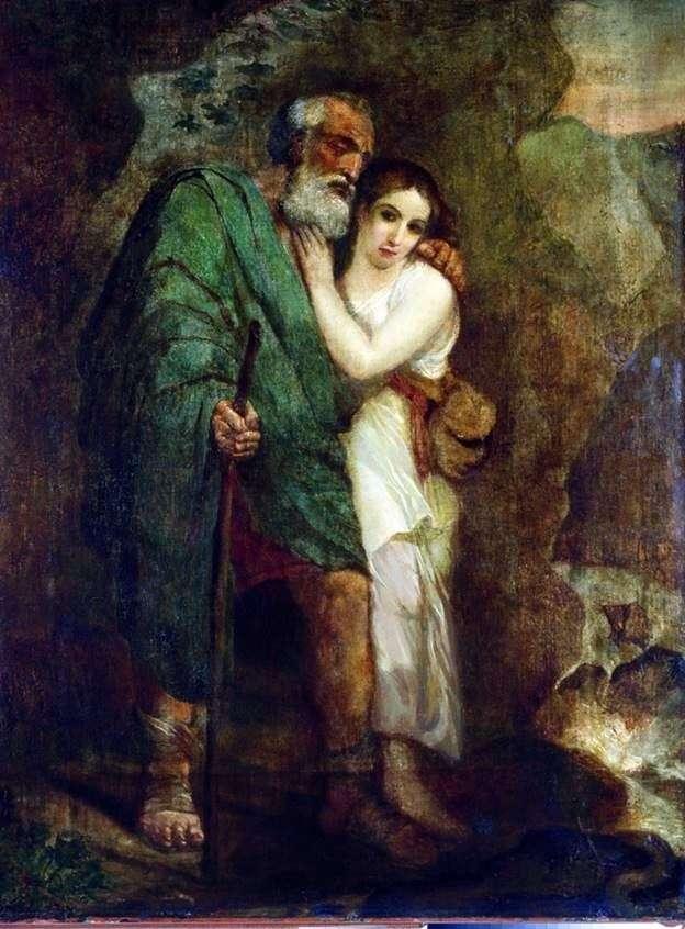 Описание картины Карла Брюллова «Эдип и Антигона»