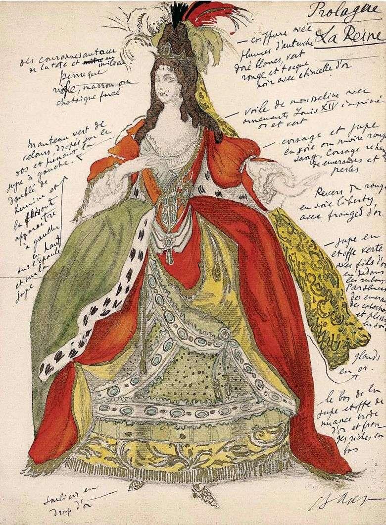 Описание эскиза Леона Бакста «Спящая красавица»