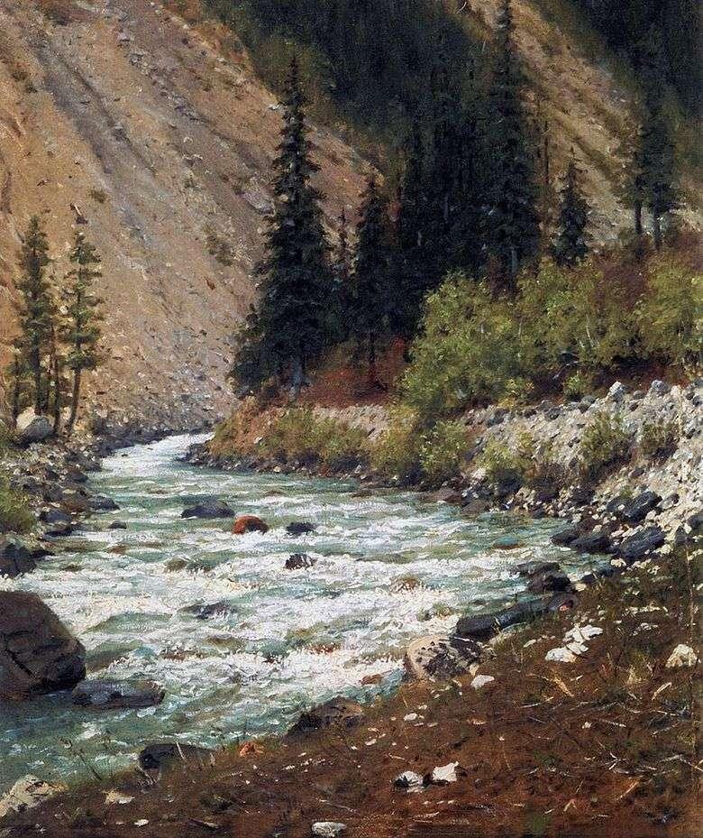 Описание картины Василия Верещагина «Горный ручей в Кашмире»