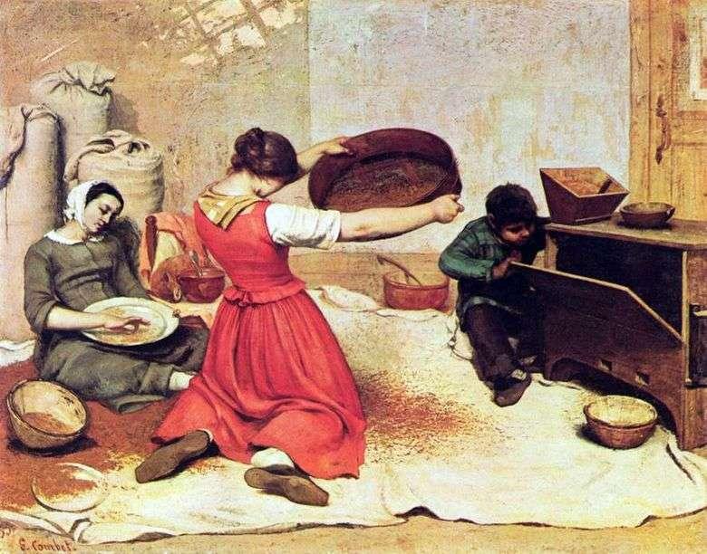 Описание картины Гюстава Курбе «Веяльщицы»