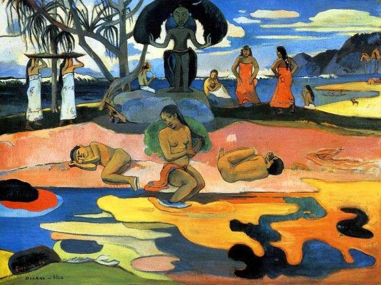 Описание картины Поля Гогена «День божества»