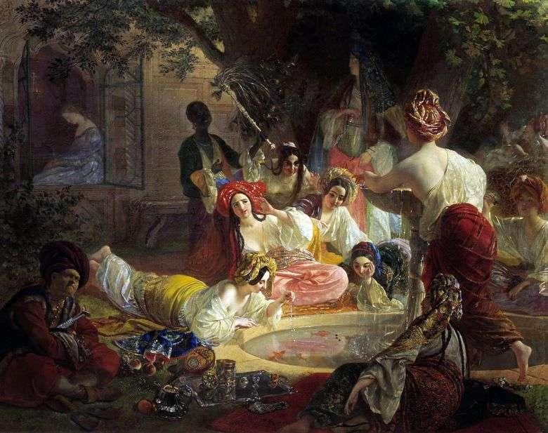 Описание картины Карла Брюллова «Бахчисарайский фонтан»