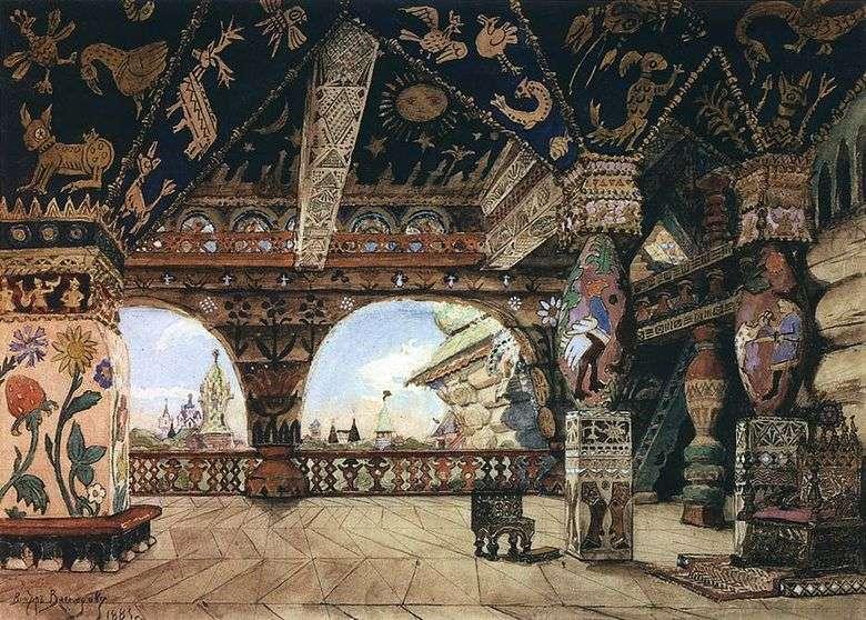 Описание картины Виктора Васнецова «Палаты царя Берендея»