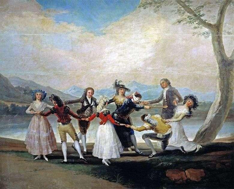 Описание картины Гойя Франсиско «Игра в жмурки»