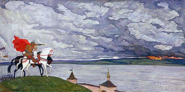 Описание картины Ильи Глазунова «Два князя»