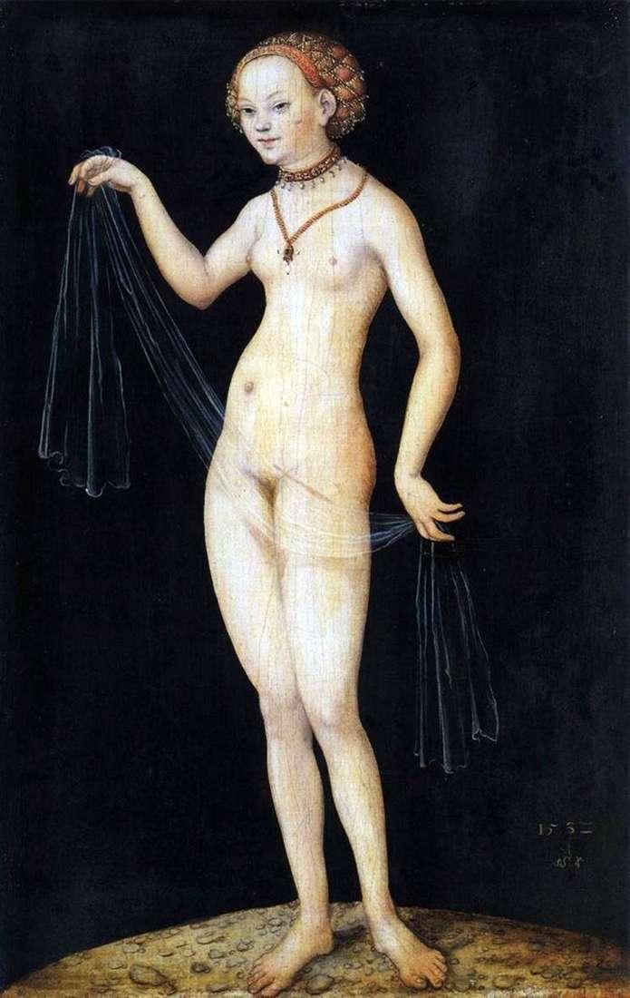 Описание картины Лукаса Кранаха «Венера»