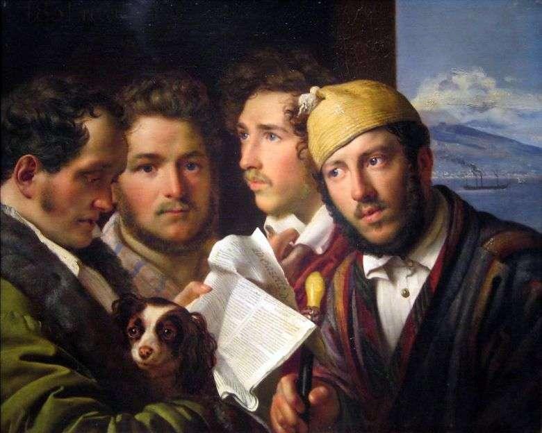 Описание картины Ореста Кипренского «Читатели газет в Неаполе»
