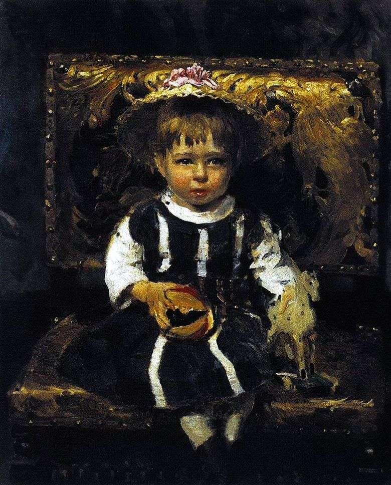 Описание картины Ильи Репина «Портрет В. И. Репиной, дочери художника»