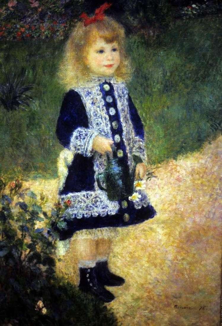 Описание картины Пьера Огюста Ренуара «Девочка с лейкой»