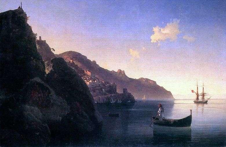 Описание картины Ивана Айвазовского «Побережье в Амальфи»