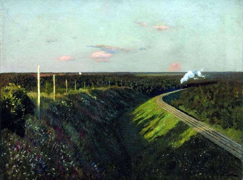 Описание картины Исаака Левитана «Поезд в пути»