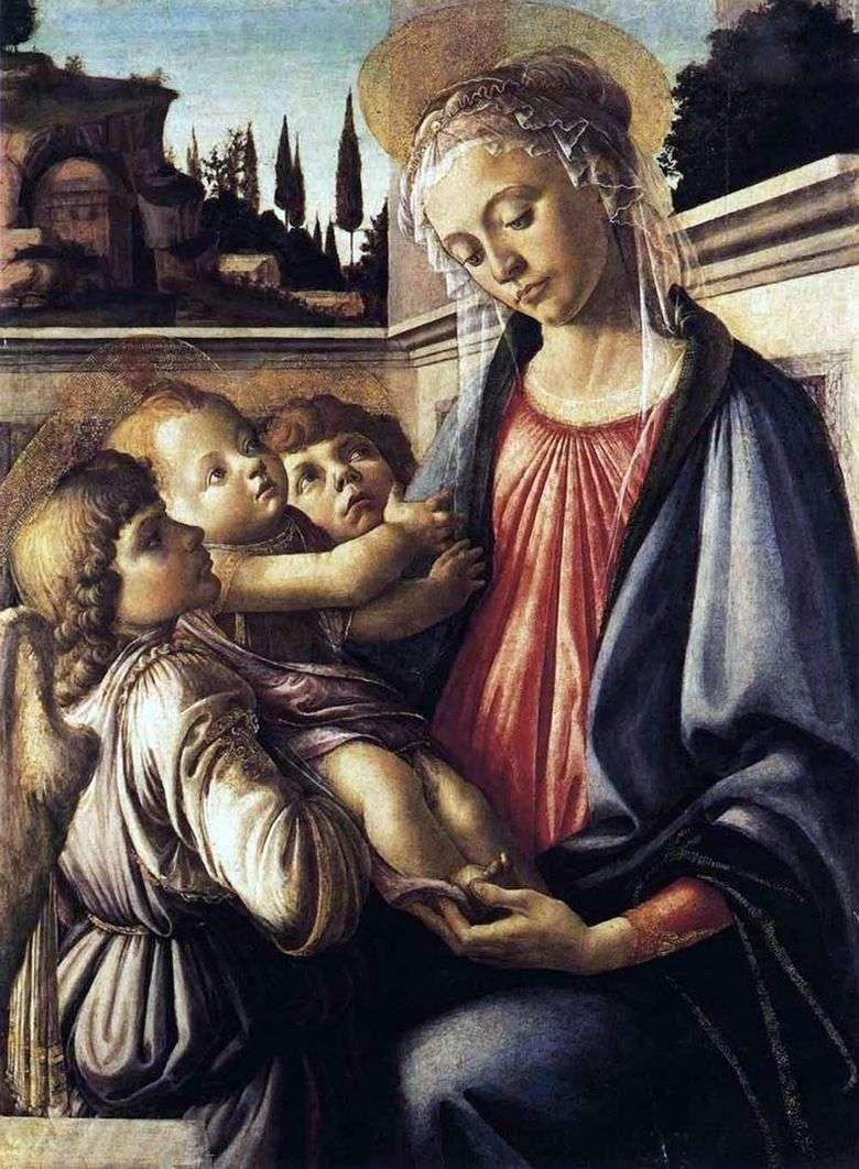 Описание картины Сандро Боттичелли «Мадонна с младенцем и ангелами»