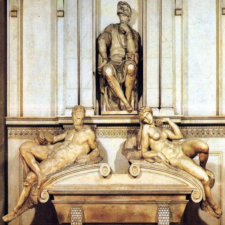 Описание скульптуры Микеланджело «Гробница Лоренцо Медичи»